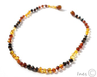 Baby Amber Teething Necklace, Genuine Baltic Amber,Baltic Amber Teething Necklace, approx 13inch, 14inch