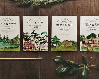 Custom Watercolor Save The Dates