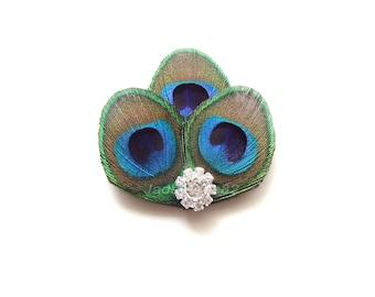 Peacock Feather Hair Clip, Peacock Wedding Hair Accesories