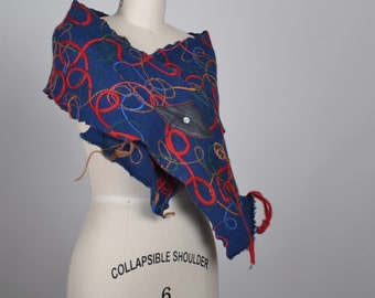 Cashmere Winter Scarf - Embroidered Cashmere Scarf - Wool Winter Scarf - Scarves - Winter Accessories