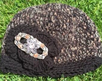Chocolate Tweed Hat