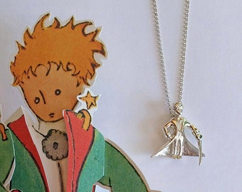 Sterling Silver Prince Necklace -Silver Necklace For Men - Le Petit Prince Necklace