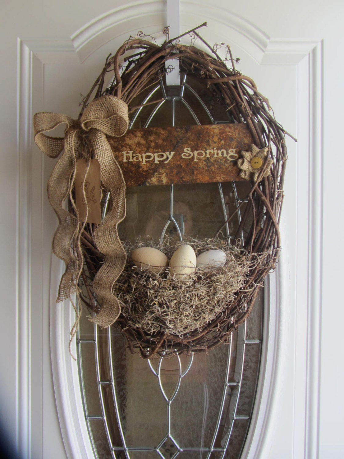 easter wreath easter door decor shabby chic wreath