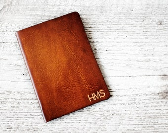 Customized Passport Cover, Genuine Leather Passport Cover with Personalized Initials, Leather Travel Wallet, Wanderlust, Travel Gift