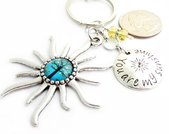 Love Keychain, Sun Keychain, Celestial Keychain, Love Quote Keychain, Sunshine Keychain, Car Accessories