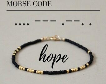 Hope Morse Code Bracelet, Morse Code Bracelet