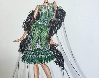 Tiana Fashion Sketch