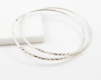 Extra Large Silver Hoop Earrings, Sterling Silver Hoops, Hoop Earrings,