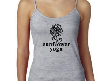 Sunflower Yoga Spaghetti Strap Tank