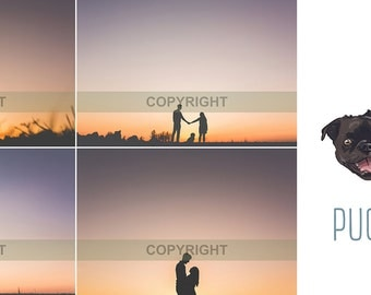 High quality couple family silhouette stock photography