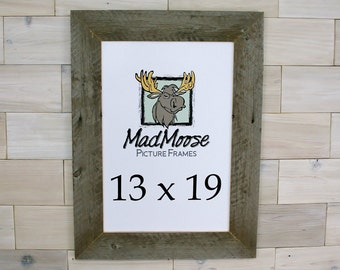13x19 barn wood thin x 3 picture frame aka old rustic distressed reclaimed gray barnwood 13 x 19 photo frame