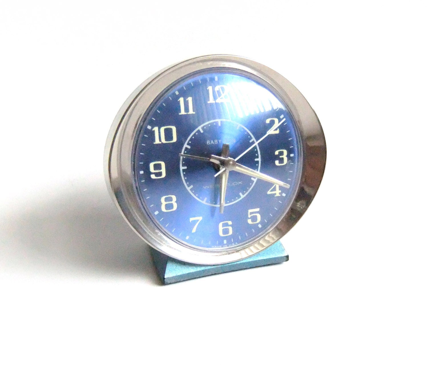Blue Baby Ben Alarm Clock Wind Up Alarm Clock Vintage Clock