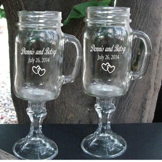 redneck wine glasses with handles 2 engraved 16 oz. Black Bedroom Furniture Sets. Home Design Ideas