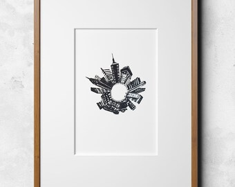 Radial City—Lithograph
