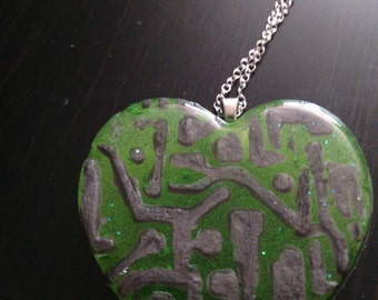 Circuit Heart Necklace