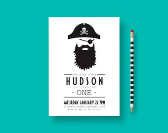 Pirate birthday invitation, pirate birthday, pirate party, Pirate Invitation, Pirate Party Invitation, 1st birthday boy invitation