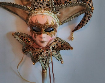 Masquerade Mask. Women. With a handle.