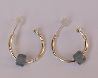 Silver gypsy hook earrings, Ancient Roman light blue glass beads (1st-2nd century CE), sterling silver  handmade,