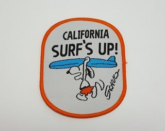 California Snoopy surf's up sew on patch surfing