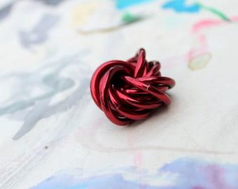 Möbii Ruby: Small Mobius Red Fidget, Stim Toy, Office Toy, Stress Ball