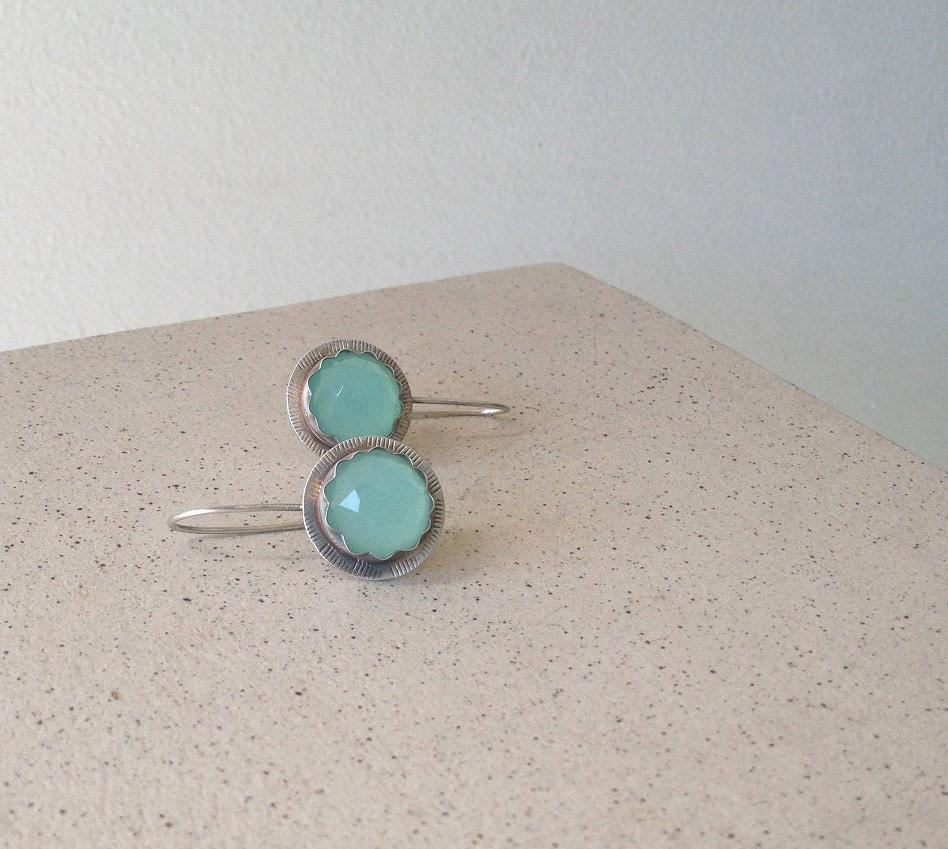 Aquamarine Gemstone Earrings: Green Aquamarine Earrings Gemstone Earrings March