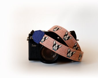 Mirrorless camera strap, thin camera strap, 1'' wide, SLR DSLR camera strap, dog camera strap