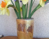 Vase with Gingko Leaves, Soda-fired