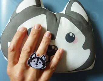 """Ring """"Husky"""" for lovers of dogs"""