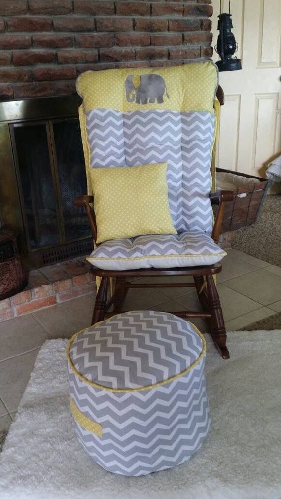 Custom Applique Rocking Chair Cushions Glider Replacement