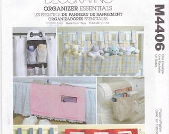 Organizer Essentials Home Decorating Caddies Toy Organizer Pocket Organizer Chair Caddy Bed Caddy Tool Organizer McCall's Craft Pattern 4406