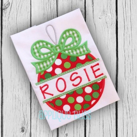Applique Christmas Ornament Split Embroidery Design