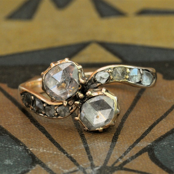 Victorian Engagement Ring-Art Nouveau Engagement Ring-1800s