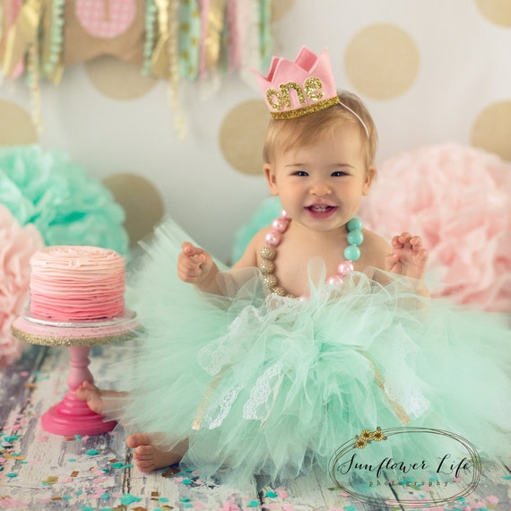 Birthday Crown Of Felt And Glitter // First Birthday By