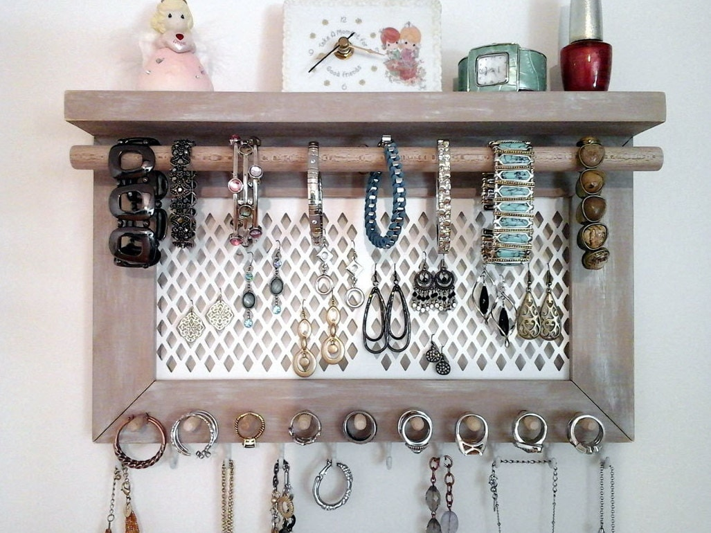 jewelry organizer wall mount necklace organizer earring. Black Bedroom Furniture Sets. Home Design Ideas