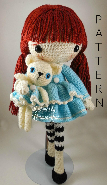 January Amigurumi Doll Crochet Pattern PDF
