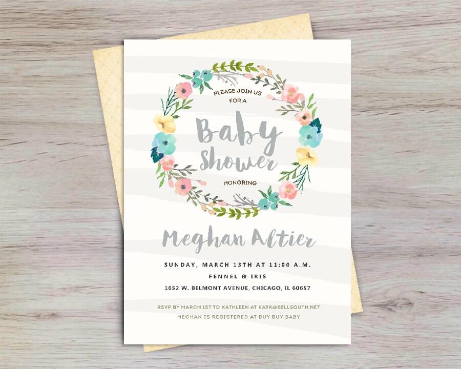 gender neutral baby shower unique baby shower invitation