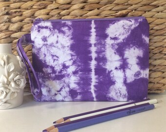 Purple Wristlet // Purple Clutch // Tie Dye Wristlet // Colorful Clutch