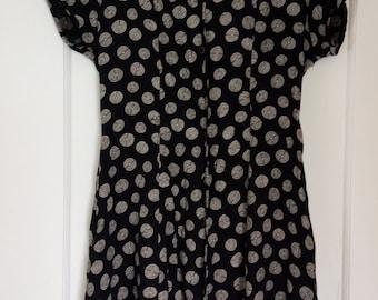90's Dark Navy Button Up Dress