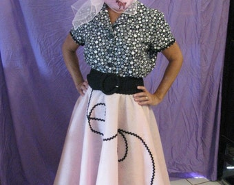 50's poodle skirt outfit
