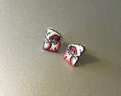 SALE white mage - final fantasy earrings