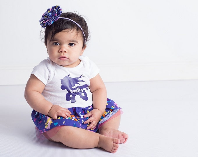 My Little Pony - MLP - Baby Dress  - My 1st Birthday - Personalized Dress - Baby Girl Gift - My Little Pony Birthday Party   sz NB to 24 mos
