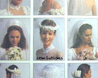 WEDDING VEIL Sewing Pattern - Bride Bridal Veils Headpieces OOP 2057