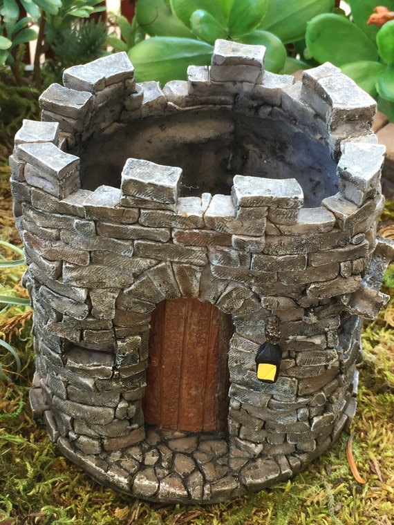Mini Castle, Fairy Castle, Miniature Gardening Castle, Planter, Fairy Garden Accessory, Home & Garden, Flower Pot, Miniature Gardening