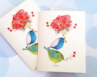 Mothers Day, Valentine Card, Anniversary Card, Birthday Card, Stationery,  Set of 6