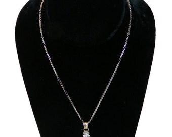 Vintage Sterling Silver Pendant Necklace