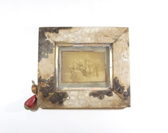 Vintage Framed Tintype Photo / Victorian Family Photo in Frame / Full Plate Tintype Photograph