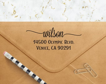 Custom Address Stamp - Personalized Self Inking Return Address Stamp