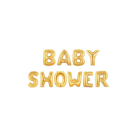 Letter From Baby To Baby Shower Guests: Baby Shower Letter Balloons, Gold Baby Shower Balloons