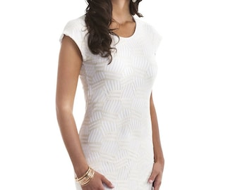 Lauren Lace Dress with Short Sleeves