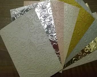 Modern Embossed/Textured  Premium Cardstock, Metallics and Foils**SHIPS FREE **20 panels